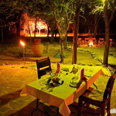 Abendessen in einer Lodge in Namibia