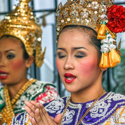 Tempeltänzerin in Bangkok