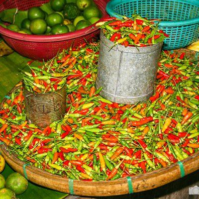 Chili in Thailand auf dem Markt