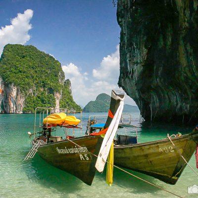 Bucht bei Krabi in Thailand